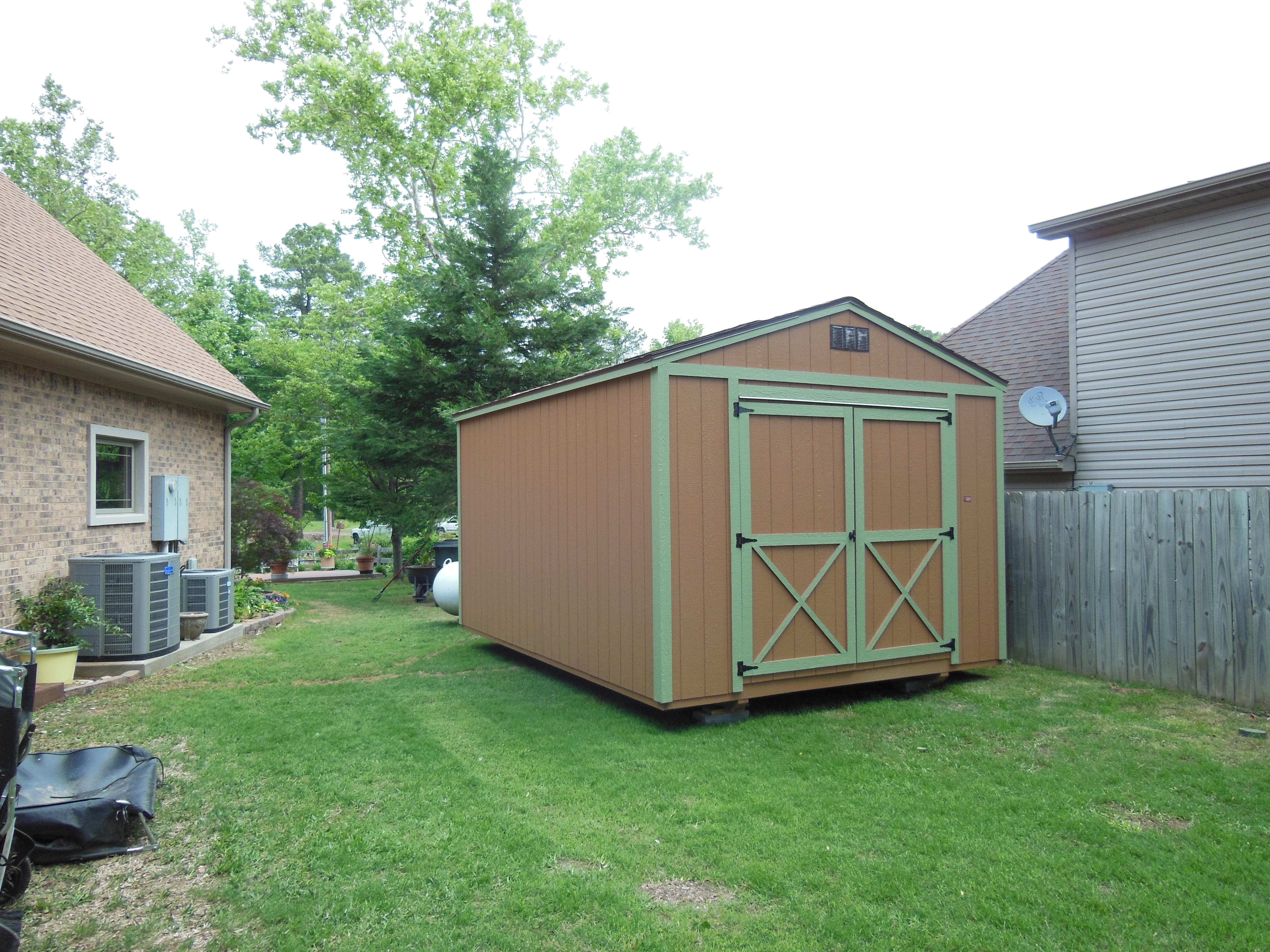 Utility storage shed davis portable buildings arkansas for Utility storage shed
