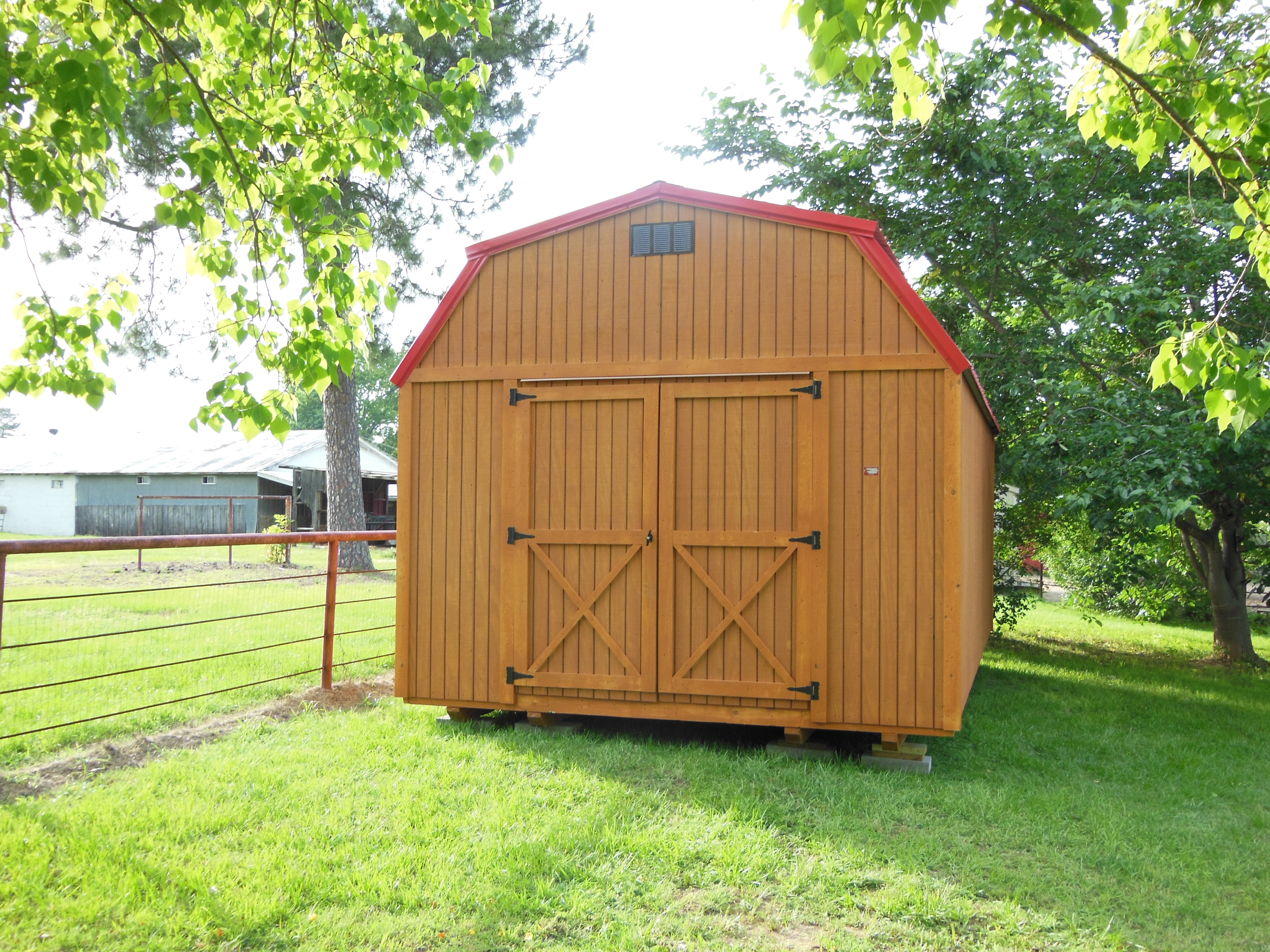 Lofted barn portable shed davis portable buildings arkansas for Lofted barn shed