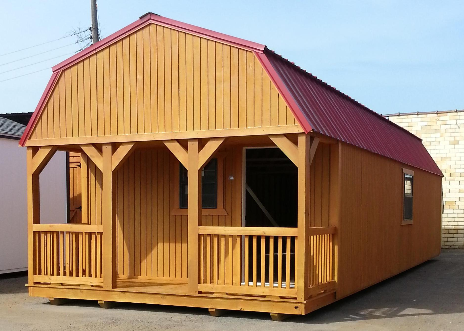 Lofted Barn Cabin Davis Portable Buildings Arkansas
